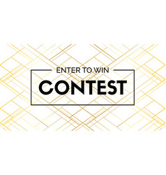 Contest luxury banner enter to win vector