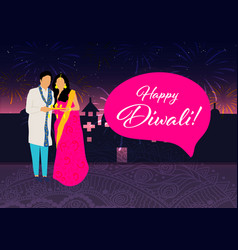 Creative diwali festival template design happy vector