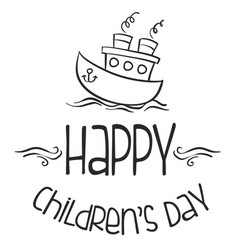 cute design childrens day background vector image