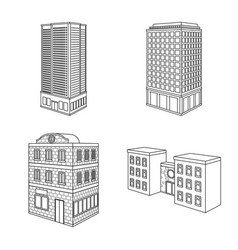 design of home and apartment symbol set of vector image