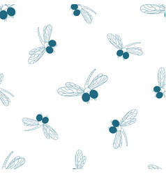 dragonfly darning-needle design of packing paper vector image