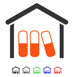 Drugs garage flat icon vector