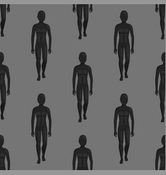 dummy mannequin model poses male seamless vector image