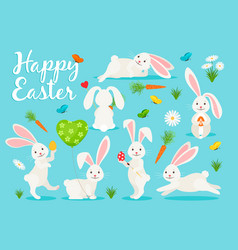 Eastern bunny banner design vector