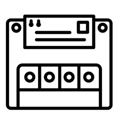 electric commutator icon outline style vector image