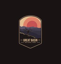 emblem patch logo great basin national park vector image