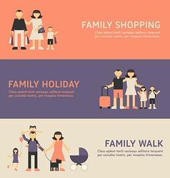 Family Shopping Family Holiday and Family Walk vector image