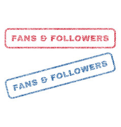 Fans followers textile stamps vector