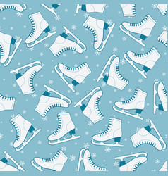 figure skates seamless pattern vector image