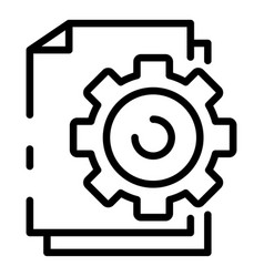 File system configuration icon outline style vector