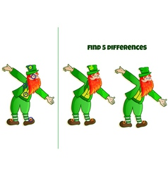 find 5 differences vector image vector image
