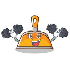 fitness dustpan character cartoon style vector image