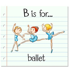 Flashcard letter B is for ballet vector