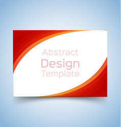 Flyer template wave design 1 vector