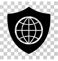 global shield icon vector image