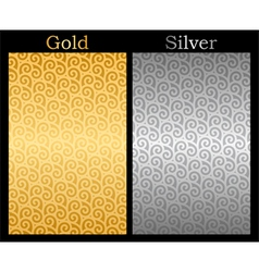 Gold and Silver background vector