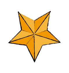 gold star award quality element icon vector image