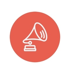 Gramophone thin line icon vector image