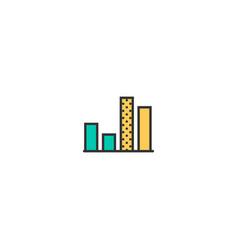 graph icon line design business icon design vector image