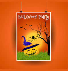 Halloween flier design vector