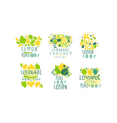 healthy lemonade logo templates original design vector image