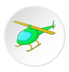 Helicopter icon isometric style vector