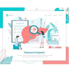 Hepatitis medical landing page vector