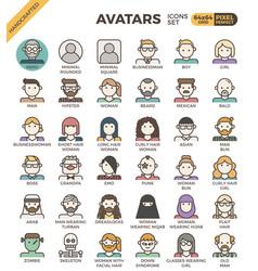 Human diversity avatar icons vector