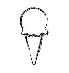 ice cream sweet cold frozen dessert icon vector image