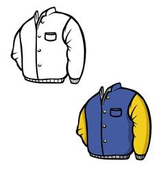 jacket coloring book vector image