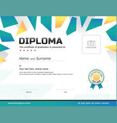 Kids diploma or certificate template with award vector