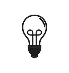 Lightbulb idea vector image