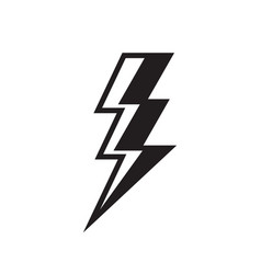 lightning black icon design thunderbolt sign vector image