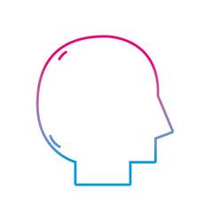 Line silhouette man head vector