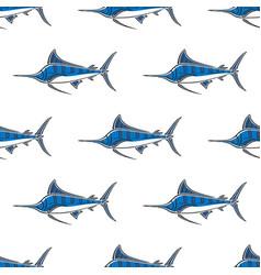 Marlin sailfish character abstract hand drawn vector