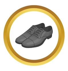 Mens classic shoes icon vector image