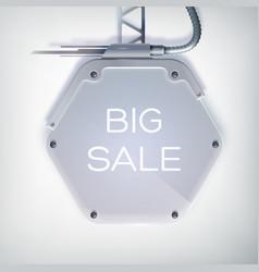 Modern billboard sale poster vector