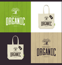 Olive tree logo concept isolated on green vector