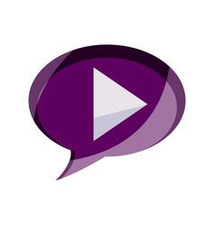 online activities video player button digital vector image