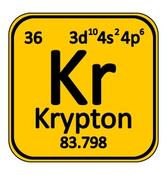 Periodic table element krypton icon vector image
