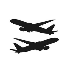 Plane template design vector