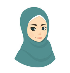 portrait of muslim beautiful girl woman in hijab vector image