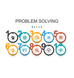 Problem solving infographic design template vector