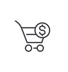 Purchase order icon linear vector
