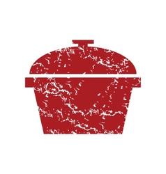 Red grunge pan logo vector