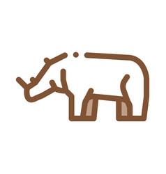 Rhinoceros icon outline vector