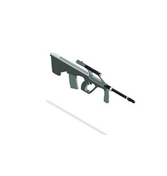 Rifle sniper isometric hunting gun silhouette vector
