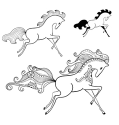 - running horse vector image