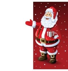 Santa Claus Cartoon Character Showing Merry vector