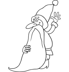 santa claus cartoon for coloring book vector image - Coloring Book Santa